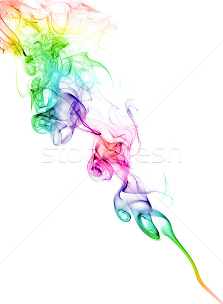 Color Smoke On White Stock photo © PetrMalyshev