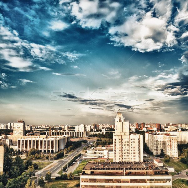 City Aerial View Stock photo © PetrMalyshev