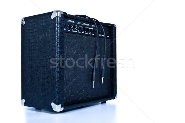 black guitar amplifier Stock photo © PetrMalyshev