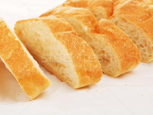 Pan frescos papel alimentos desayuno Foto stock © PetrMalyshev