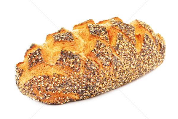 Fehér kenyér pipacs izolált fehér étel fotó Stock fotó © PetrMalyshev