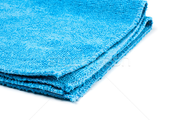 blue microfiber duster closeup Stock photo © PetrMalyshev