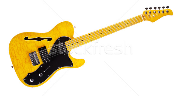 Semi-Hollow Guitar Stock photo © PetrMalyshev