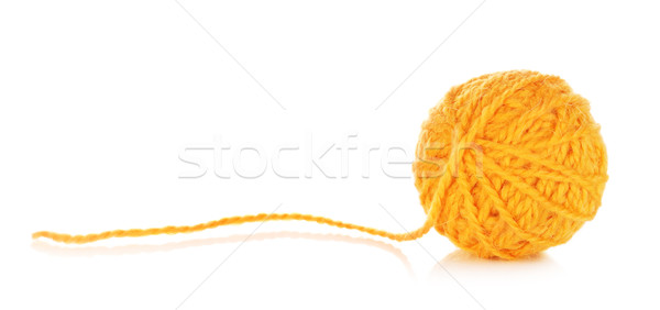 Orange Yarn Ball Stock photo © PetrMalyshev
