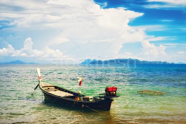 Thai Long Boat Stock photo © PetrMalyshev
