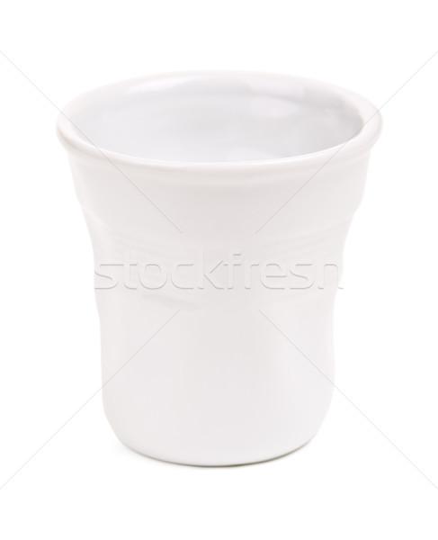 Blanco café expreso taza original gris aislado Foto stock © PetrMalyshev