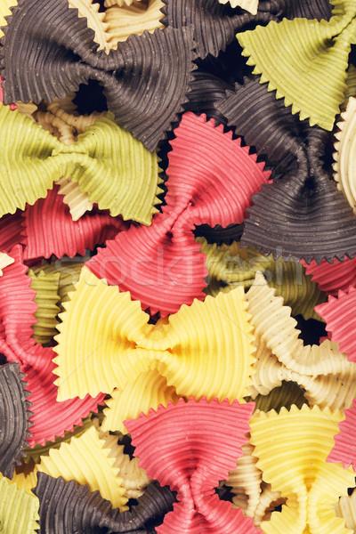 Multicolored Raw Bow Tie Pasta Stock photo © PetrMalyshev