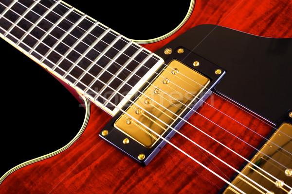 Red Electric Guitar Stock photo © PetrMalyshev