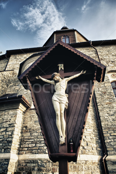 Crucifix in Kamenetz-Podolsk Church Stock photo © PetrMalyshev