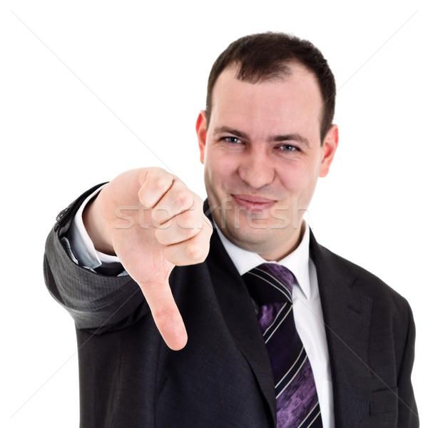 businessman gesturing thumbs down Stock photo © PetrMalyshev
