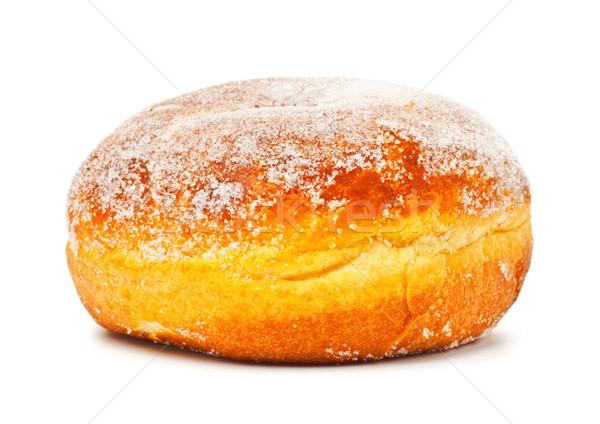 Donut sucre glace isolé blanche déjeuner grasse Photo stock © PetrMalyshev