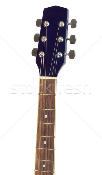 Сток-фото: гитаре · электрической · гитаре · изолированный · белый · фон · металл