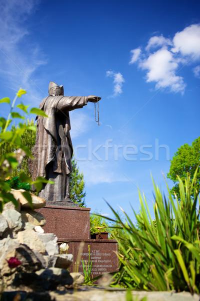Stock photo: Bishop Statue