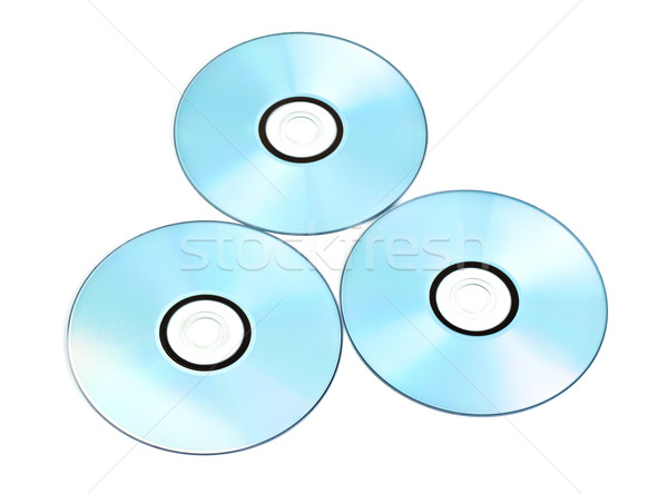 printable dvds isolated on white Stock photo © PetrMalyshev