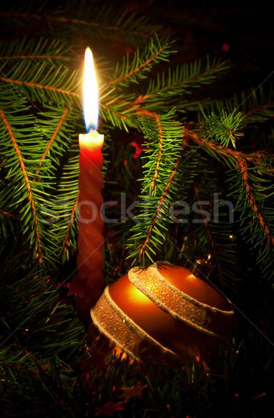 свечу украшение мяча любви красный Сток-фото © PetrMalyshev