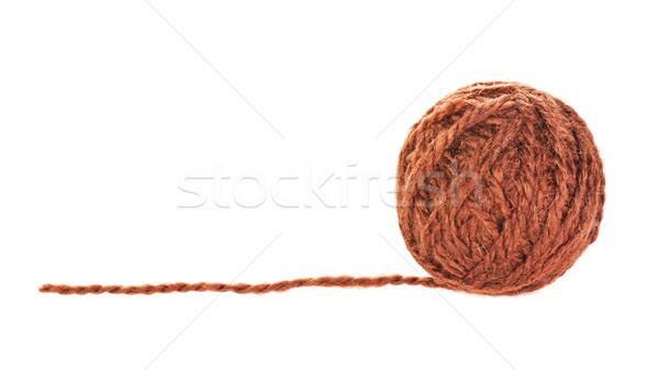 Brown Yarn Ball Stock photo © PetrMalyshev
