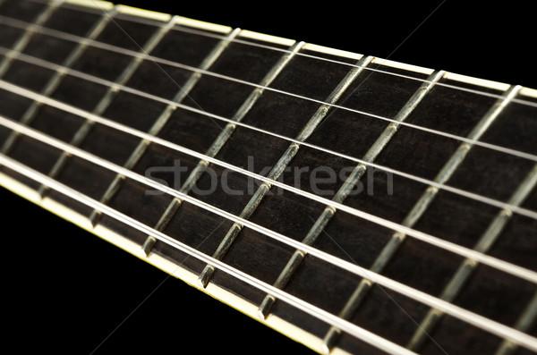 Сток-фото: гитаре · электрической · гитаре · изолированный · черный · музыку