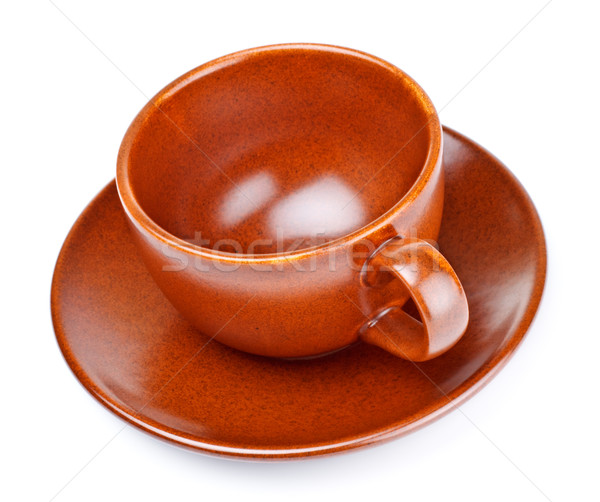 coffee cup with saucer Stock photo © PetrMalyshev