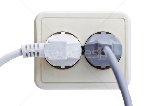 Standart Outlet with Plug Stock photo © PetrMalyshev