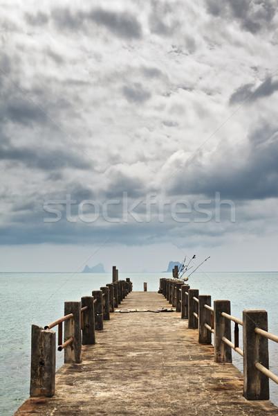 Pier under Dark Clouds Stock photo © PetrMalyshev