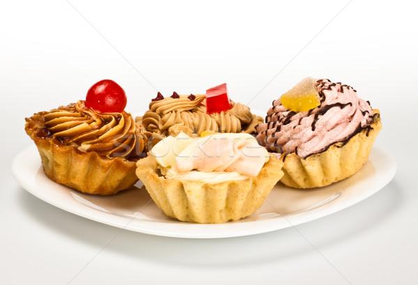 cakes on white dish Stock photo © PetrMalyshev