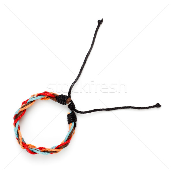 Tissu bras bracelet isolé blanche mode Photo stock © PetrMalyshev