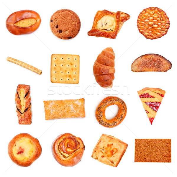 Sweet хлебобулочные коллекция различный набор изолированный Сток-фото © PetrMalyshev