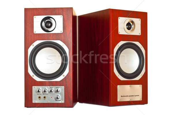 two brown speakers Stock photo © PetrMalyshev