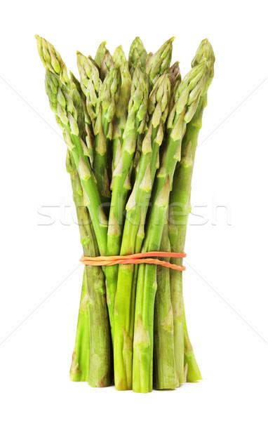 Verde asparagi fresche isolato bianco Foto d'archivio © PetrMalyshev