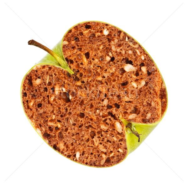 Génmanipulált zöld alma kenyér bent étel Stock fotó © PetrMalyshev