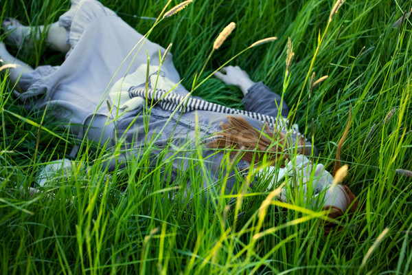 Dead Woman Laying in Grass Stock photo © PetrMalyshev