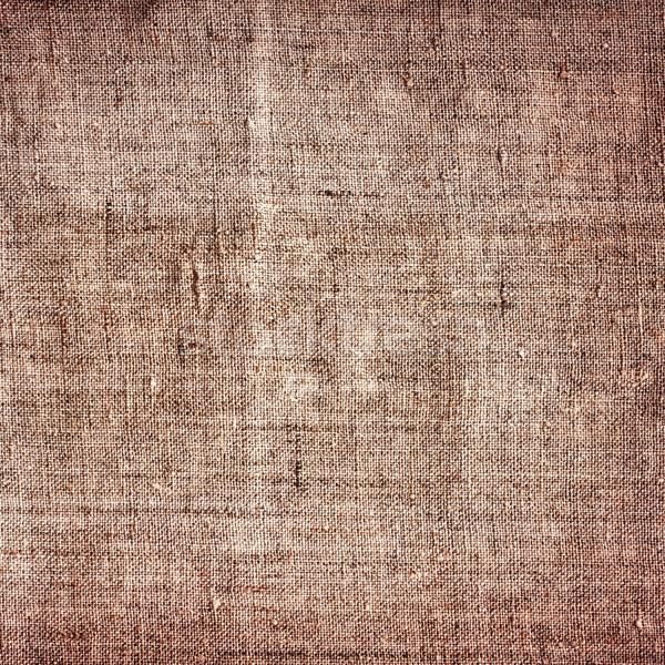 Eski tuval kahverengi grunge texture arka plan iç Stok fotoğraf © PetrMalyshev