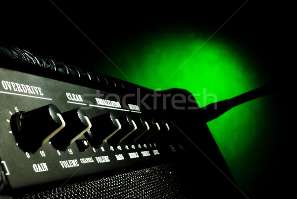 combo amplifier closeup Stock photo © PetrMalyshev