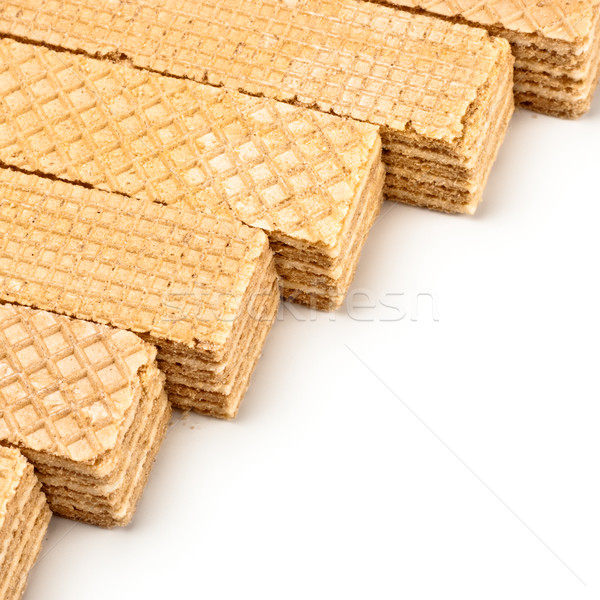 crisp waffles row Stock photo © PetrMalyshev