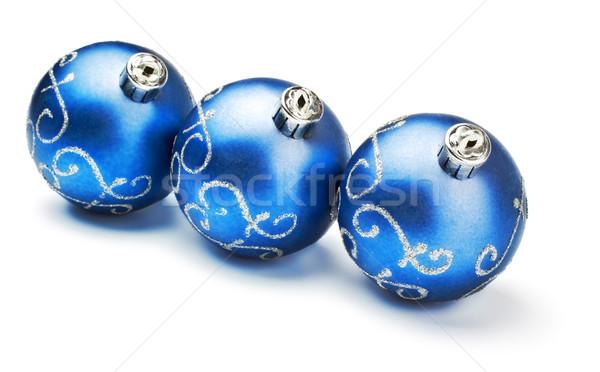 три синий украшение изолированный белый Сток-фото © PetrMalyshev