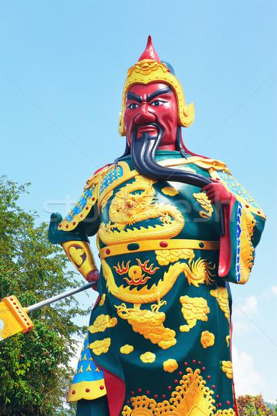 Stock photo: Warrior Statue