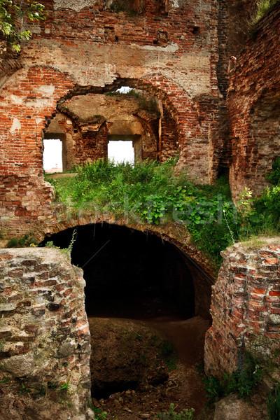 ruins of old castle Stock photo © PetrMalyshev