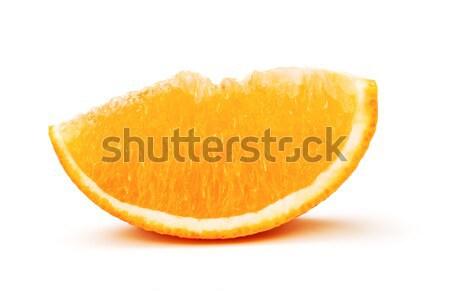 świeże pomarańczowy plasterka odizolowany biały żywności tle Zdjęcia stock © PetrMalyshev