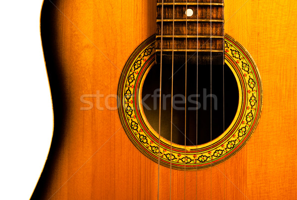 acoustic guitar central part Stock photo © PetrMalyshev