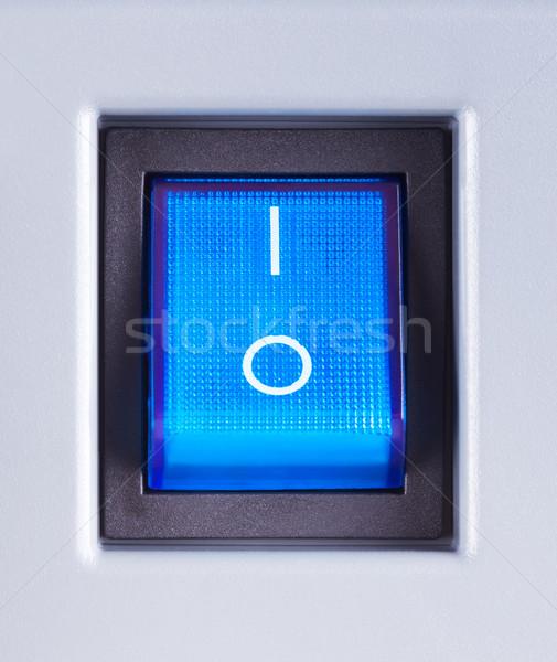 Moc przełącznik niebieski przycisk technologii Zdjęcia stock © PetrMalyshev