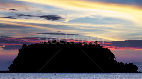 Stok fotoğraf: Deniz · gün · batımı · ada · Tayland · Asya · plaj