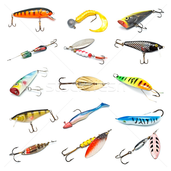 Stock photo: Fishing Baits Collection