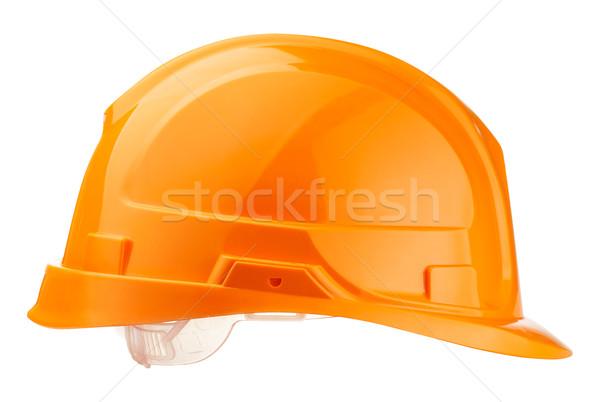 ヘルメット オレンジ ヘルメット ビルダー ワーカー 孤立した ストックフォト © PetrMalyshev