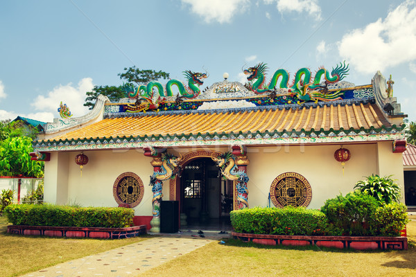 Cinese tempio costruzione arte viaggio colore Foto d'archivio © PetrMalyshev