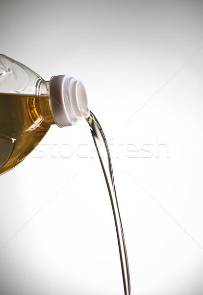Stockfoto: Olie · grijs · achtergrond · salade · foto