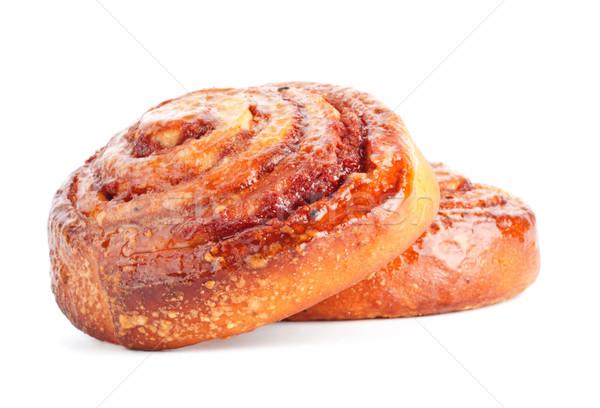 two sweet buns with cinnamon Stock photo © PetrMalyshev