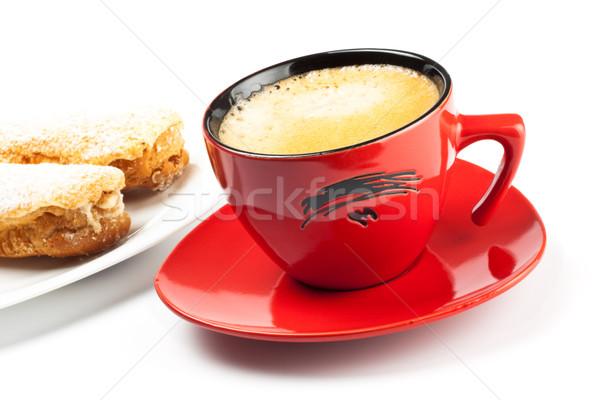 espresso cup and cake Stock photo © PetrMalyshev