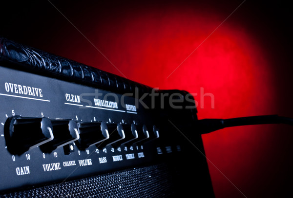 combo amplifier on red background Stock photo © PetrMalyshev