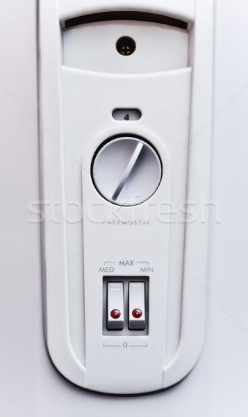 Elétrico Óleo aquecedor painel de controle cinza casa Foto stock © PetrMalyshev