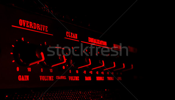 guitar amplifier control panel in red light Stock photo © PetrMalyshev